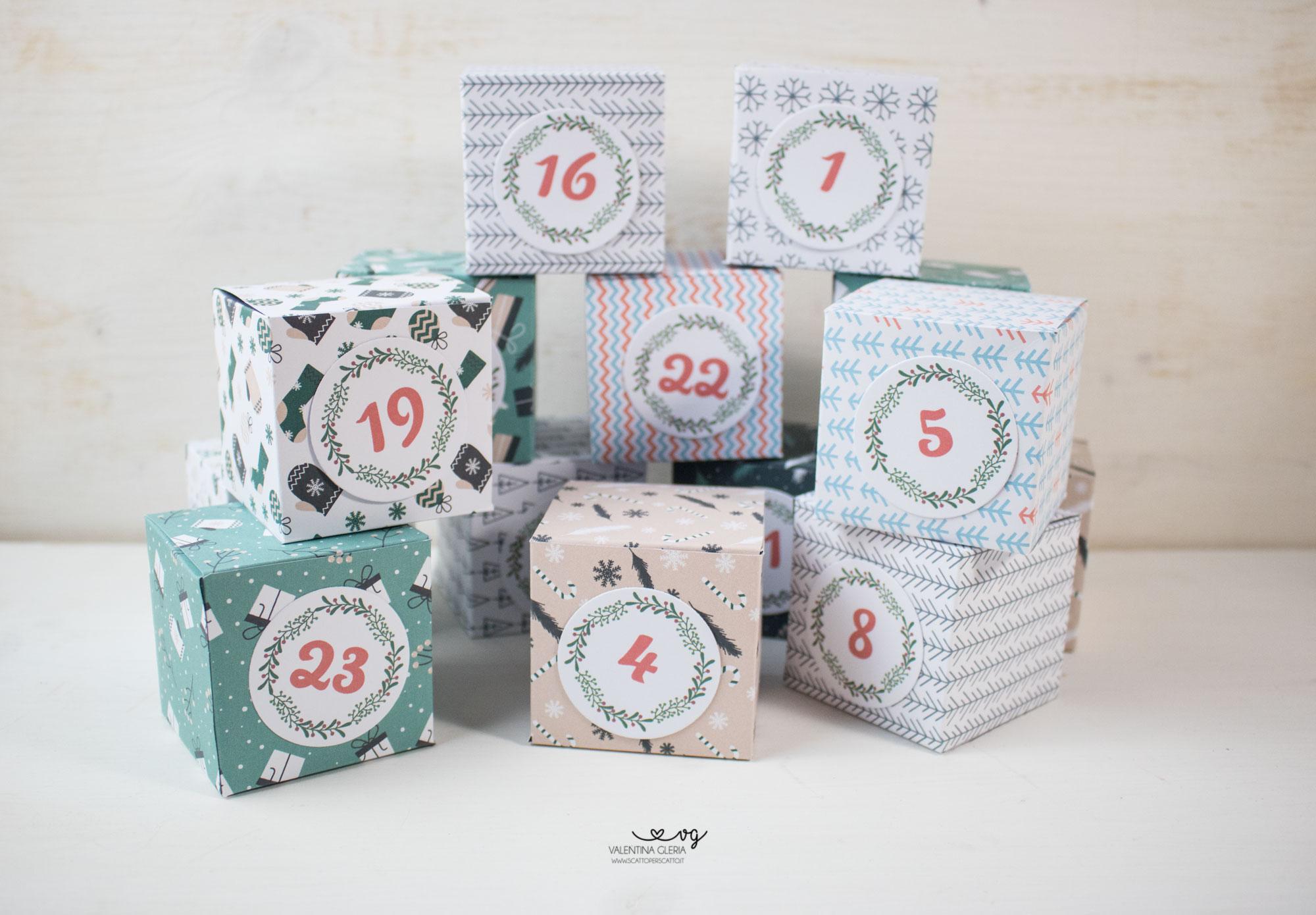 Le scatoline del Calendario dell'Avvento